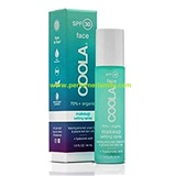 COOLA, MAKEUP SETTING SPRAY SPF30+Hyaluronic, Fijador maquillaje en spray, 50 ml.